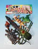 [6 pcs/set] high simulation large size reptile animal model toys soft amphibian models children toy crocodile free shipping
