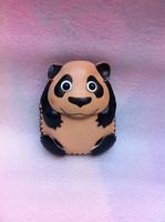 Leather wallet girl cute cartoon animal Panda Coin Key Leather Bag Handmade