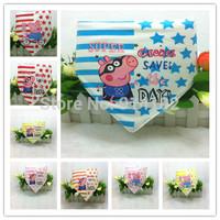 New Baby Bibs Peppa pig Cartoon Toddler/Infant scarf scarves Boys&Girls Wipes Wraps Burps Cloth Scarf Triangle /Feeding