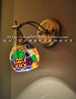 2014 Fashion Bohemia Rustic Mirror Light Wall Lamp Bedside Lamp Free Shipping