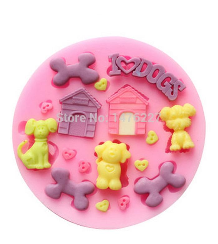 SILICONE MOULDS Fondant Chocolate Bone House Dog Mold craft Cake & Candy Decorating Tool 10% off #2(China (Mainland))