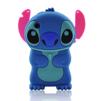 Blue 3d Stitch Movable Ear Flip Soft Case Cover for Iphone 3g/3gs Xmas Gift