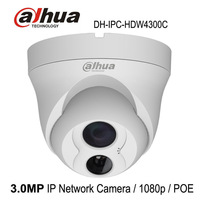 Free shipping Dahua IPC-HDW4300C Built-in MIC IR HD 1080p IP Camera 3MP Full Network IR security cctv Dome Camera Support POE