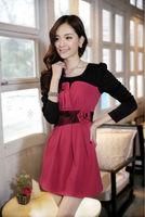 2014 Fashion Winter Autumn Dress European Style Luxury Stylish Womens Mini Sheath Casual Dress
