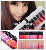(12PCS/SET) Brand new 3 ce different colors lipstick women's Lipgloss new Lip Gloss lips makeup wholesale