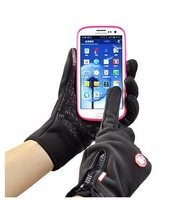Free shipping Outdoor sport Riding Gloves full finger Touch Screen Fleece Gloves wind stopper Waterproof Gloves black rose color
