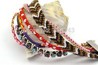 Free shipping!!!Fashion Brazilian Hipanema Bracelet,Love, Nylon Cord, with Velveteen Ribbon, zinc alloy magnetic clasp
