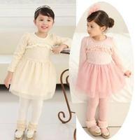 2-8Y Korean Children's Clothes 2014 Girls Dress Sequins Lace Dresses of The Girls Party Children Dresses Girls Princess