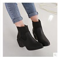 Ladies Autumn Ankle Boots Heels Women Booties Shoes Woman Female Black Brown Size 35-40 HLM889-2