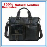 100% Guarantee Real Natural Genuine Leather Men Bag Shoulder Messenger Bags Leather men's travel bags handbag briefcase New 2015
