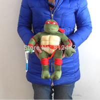 FREE SHIPPING 1pc 38cm Novelty Kawaii Cute Teenage Mutant Ninja Turtles Toy Plush Soft Movie & TV Doll For Children brinquedo