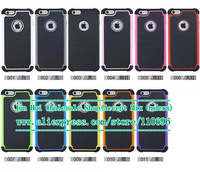 Wholesale 100pcs/lot New Hybrid Rugged Football skin PC Silicon Tough Case Cover For iphone 6 Plus 5.5
