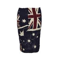 2014 Vintage English Flag Print Stretch Skinny Knee Length Skirt