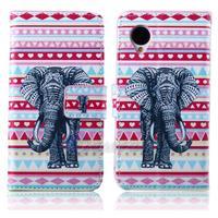 Elephants Leather Wallet Cover Case For LG Nexus 5 E980 D820 D821 Google Nexus 5 Free Shipping Bird Butterfly Flower