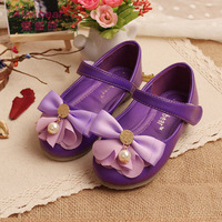 Factory direct sales of 2014 spring and autumn new shoes girl Princess Shoe Lace butterfly knot pearl girl princess shoes