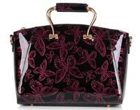 New 2014 Women Handbags Genuine Patent Leather Handbag Fashion Women Messenger Bags Brand Tote Designs Clutch Bag + Shoulder Bag