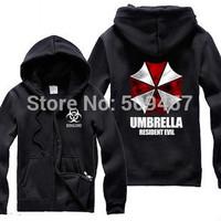 Biohazard Umbrella Corporation Corp Logo Coat Resident Evil Costume hoodies resident evil umbrella cardigan