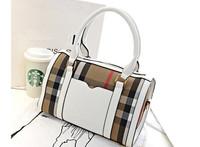 Fashion Striped bag 2014 plaid canvas handbag one shoulder mini bag bucket women's handbag free shipping