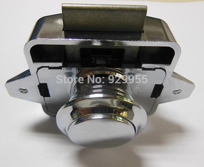 Chrome Plated Push button cabinet latch for rv caravan motorhome Cupboard lock Rim Lock Lacth(China (Mainland))