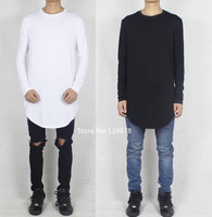 mens long sleeve t shirt oversized tee famous side slit swag hip hop been trill asap rocky casual kanye west  homme femme XXXL