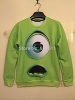 Monsters University autumn winter Michael Wazowski sports hoodies Jumpsuit  sweatershirt hoody moleton masculino for women men