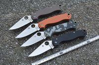 Variety color Spyderco C81 Paratrooper Folding Knife S30V Blade G10 Handles Pocket Tactical knives