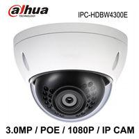 2014 New Dahua IPC-HDBW4300E 3MP Waterproof IP camera 1080p Dome IP66, IK10, PoE Fixed Lens Onvif with POE