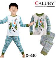 2014 New Kids Clothing set Printed Sleepwears Baby Elsa Princess Pyjamas Girls Frozen Pajamas set Anna's Pijama Free Shipping