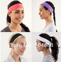 Cheap Sale Lulu Yoga Fashion Women's Brand Headbands Solid Colors Comfy Sports Headbands New Casual Lady Girl's Lovely Headbands