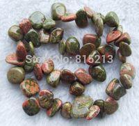 wb 00217 15.5inchs 13x14mm Unakite Baroque Beads 5pc