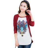 Autumn new fashion t-shirt printing fake two    free shipping