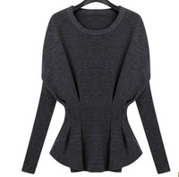 2014 new genuine pure cashmere sweater high fashion women's batwing cashmere sweater shirt sheep wool knitted