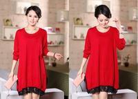 New 2014 autumn dress women loose female sweater dress