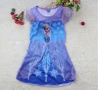 1PCS 3-10 yrs Frozen Elsa & Anna Summer Dress For Girl Princess Dresses Girls Dress Children Clothing Kids Wear