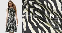 Crepe satin plain elegant dim leopard print silk satin fabric cloth  very beautiful