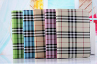 100pcs/lot DHL/FedEx Shipping Fashion Plaid book leather flip stand 360 degree rotating case cover for ipad 6 for ipad air 2