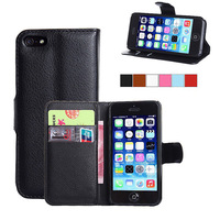 New Flip Leather Wallet Case Cover For Apple iphone 4 4s Phone Cover Cases Free Screen Protector
