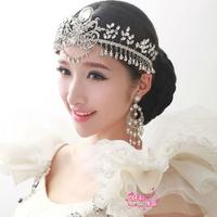 Free Shipping Clear Water Drop Crystal Tassel Bridal Tiara Wedding Hair Tiara Earrings and Tiara Set