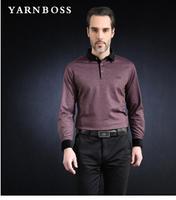 BOSS men's 2014 autumn new men's business casual shirt cotton long-sleeved T-shirt men