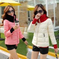 Down Coats Lady's Fashion Short High Collar Short Slim Winter Jacket Designer 5Colors M-XL Overcoat Women's Thick Warm Winter