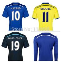 2015 Free Customize home away Blue DIEGO COSTA FABREGAS Chelsea Soccer Jersey 14 15 OSCAR Chelsea Jersey , chelsea soccer shirt