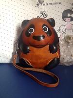 animal panda cartoon wallet genuine leather key bag high quality first layer cowhide handmade coin purse