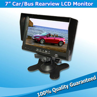 """Auto Rear View Surveillence Backup In Car Monitor 7"""" Screen Display with Headrest Mount and Video Input"""
