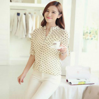 Hot Sale Women long-sleeve bird Print Chiffon Shirts Fashion Slim autumn Blouses Casual Blouse Feminine