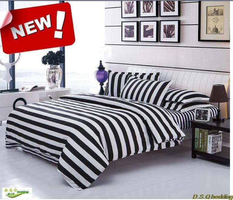 new! black white striped zebra king/queen/full size bedding set, comforter sheet duvet cover linen home textile N19(China (Mainland))