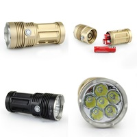 Gold SKYRAY King CREE XM-L 6x T6 LED 8500lm LED Tactical Flashlight Torch Lamp