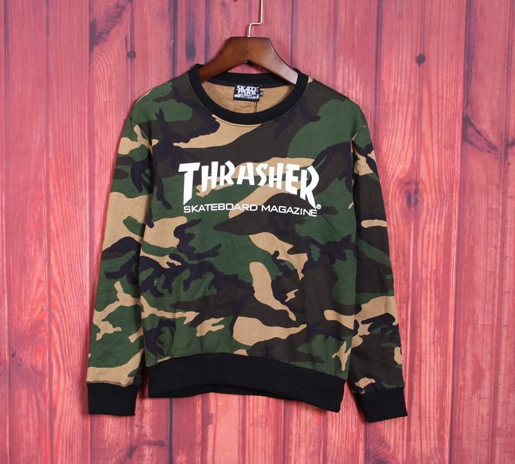 hiphop brand rap nk moleton skateboard men's clothes camo crew neck sweatshirt thrasher diamond cheap sweatshirts(China (Mainland))