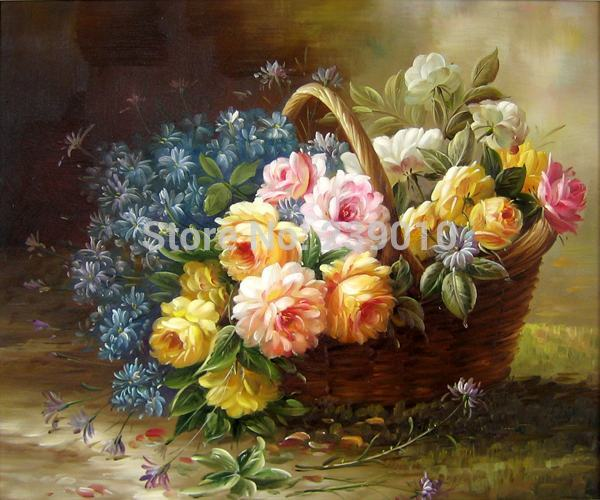 Realistic Oil Paintings Flowers Oil Painting