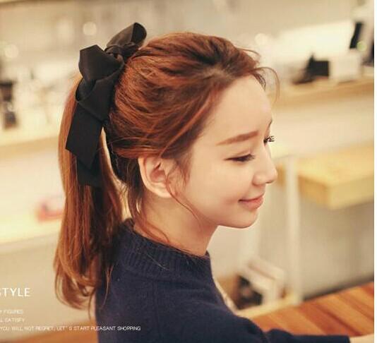 2014 New Bowknot Hair Rope Free Shipping Bowknot Hair Accessories for Girl / Women Retro Head Hair Supplies(China (Mainland))