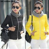 Fashion 2014 New Autumn Winter Cotton-Padded Thicken Plus Size Short Women's Down Jacket Casual Outwear Women Coat 2029